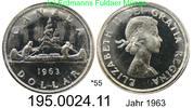1 Dollar 1963 Kanada *55 KM54 . 195.0024.11  unc  28,00 EUR  zzgl. 4,75 EUR Versand