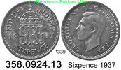 Großbritannien Great Britain  sixpence *339 KM852 . 358.0924.12