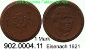 Deutschland Eisenach Luther 1 Mark 1921 unc Eisenach Luther   . 902.0004.11 9,00 EUR
