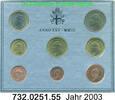 3,88 Euro 2003 Vatican Kursmünzensatz 2003 Blister .732.0251.55 unc  190,00 EUR