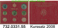 3,88 Euro 2008 Vatican Kursmünzensatz 2008  Blister .732.0331.55 unc  64,00 EUR  zzgl. 6,50 EUR Versand