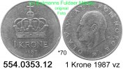 Norway Norwegen 1 Krone  *70 KM419 . 1 Krone . 554.0353.12