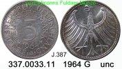 5 DM 1964 G Germany Deutschland J. 387 Kursmünze Silber . 337.0033.11 u... 35,00 EUR  zzgl. 4,75 EUR Versand