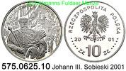 10 Zloty 2001 Poland *432 KMY458 Johann III. Sobieski . 575.0625.10  PP  94,00 EUR  zzgl. 6,50 EUR Versand