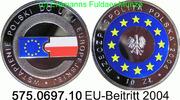 10 Zloty 2004 Poland *504 KMY482 EU-Beitritt . 575.0697.10 PP  28,75 EUR  zzgl. 4,75 EUR Versand