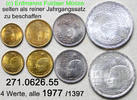vier Werte 1977 Ägypten Egypt *173-*177 KM463-473 Kursmünzensatz . 271.... 27,00 EUR  zzgl. 4,75 EUR Versand