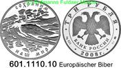 3 Rubel 2008 Russland Europäischer Biber . 601.1110.10 PP  63,00 EUR  zzgl. 6,50 EUR Versand