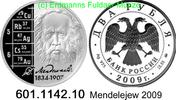 2 Rubel 2009 Russland Mendelejew Chemiker . 601.1142.10 PP  48,00 EUR