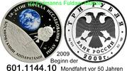 3 Rubel 2009 Russland Mondfahrt vor 50 Jahren . 601.1144.10 PP  115,00 EUR  zzgl. 6,50 EUR Versand