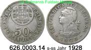 50 Centavos 1828 Sankt Thomas und Prinzeninsel St. Thomé $ Prince *3 KM... 39,50 EUR  zzgl. 4,75 EUR Versand