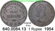 1 Rupee 1954 Seychellen *16 KM13 Elisabeth II. ss  5,00 EUR  zzgl. 4,75 EUR Versand