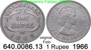 1 Rupee 1966 Seychellen *16 KM13 Elisabeth II. ss  5,00 EUR  zzgl. 4,75 EUR Versand