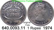 1 Rupee  Seychellen *16 KM13 Elisabeth II. 1974  7,00 EUR  zzgl. 4,75 EUR Versand