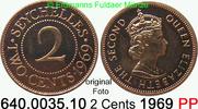 2 Cents 1969 Seychellen *11 KM15 Elisabeth II. knapp PP lose  9,75 EUR  zzgl. 4,75 EUR Versand