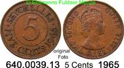 5 Cents 1965 Seychellen *12 KM16  Elisabeth II. ss  3,00 EUR  zzgl. 4,75 EUR Versand