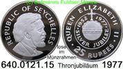 25 Rupees 1977 Seychellen *30a KM28a  Elisabeth II. Thronjubiläum unc  15,00 EUR  zzgl. 4,75 EUR Versand