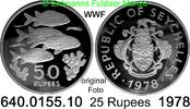 50 Rupees 1978 Seychellen *39b KM39  WWF Fische PP  24,95 EUR  zzgl. 4,75 EUR Versand