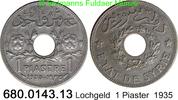 1 Piastre 1935 Syrien *5 KM71 Lochgeld ss  3,00 EUR  zzgl. 4,75 EUR Versand