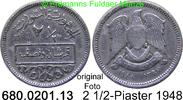 2 1/2 Piaster 1948 Syrien *12 KM81 ss  2,00 EUR  zzgl. 4,75 EUR Versand