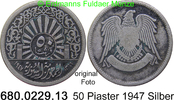 50 Piaster 1947 Syrien *16 KM80 ss  8,00 EUR  zzgl. 4,75 EUR Versand