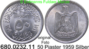 50 Piaster 1959 Syrien *25 KM89 VAR unc  20,00 EUR  zzgl. 4,75 EUR Versand