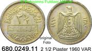 2 1/2 Piaster 1960 Syrien *20 KM90 VAR unc  3,00 EUR  zzgl. 4,75 EUR Versand