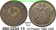 10 Piastres 1960 Syrien *22 KM92 VAR ss  3,00 EUR  zzgl. 4,75 EUR Versand
