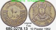10 Piastres 1962 Syrien *28 KM95 ss  2,00 EUR  zzgl. 4,75 EUR Versand