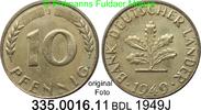 10 Pfennig 1949J Deutschland BDL Bank Deutscher Länder J. 378 unc  3,50 EUR  zzgl. 4,75 EUR Versand
