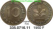 10 Pfennig 1950F BRD Bundesrepublik Deutschland J.383 unc  4,75 EUR  zzgl. 4,75 EUR Versand