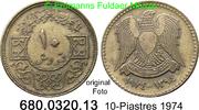 10 Piastres 1974 Syrien *39 KM106 ss  2,00 EUR  zzgl. 4,75 EUR Versand