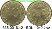 10 Pfennig 1949J Deutschland BDL Bank Deutscher Länder J. 378 vz  2,00 EUR  zzgl. 4,75 EUR Versand