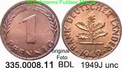 1 Pfennig 1949J Deutschland Bank Deutscher Länder BDL J.376 unc  3,00 EUR  zzgl. 4,75 EUR Versand