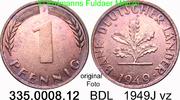 1 Pfennig 1949J Deutschland BDL Bank Deutscher Länder J.376 vz  1,00 EUR  zzgl. 4,75 EUR Versand