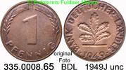 1 Pfennig 1949J Deutschland BDL Bank Deutscher Länder J.376 unc  3,00 EUR  zzgl. 4,75 EUR Versand