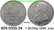 1 Shilling 1896 Südafrika *5 KM5 Ohm Krüger Jahr knapp s-ss  15,00 EUR  zzgl. 4,75 EUR Versand