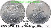 2 Shillings 1896 Südafrika *6 KM6 Ohm Krüger vz  55,00 EUR  zzgl. 6,50 EUR Versand
