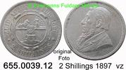 2 Shillings 1897 Südafrika *6 KM6 Ohm Krüger vz  125,00 EUR  zzgl. 6,50 EUR Versand