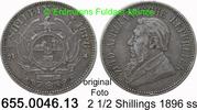 2 1/2 Shillings 1896 Südafrika *7 KM7 Ohm Krüger ss  39,00 EUR  zzgl. 4,75 EUR Versand