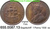 1 Penny 1930 Südafrika *22 KM14.2 Segelschiff ss  9,00 EUR  zzgl. 4,75 EUR Versand