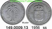 5 Francs 1956 Belgian Congo Ruanda Urundi *33 KM3 ss  3,00 EUR  zzgl. 4,75 EUR Versand