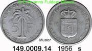 5 Francs 1956 Belgian Congo Ruanda Urundi *33 KM3 s  1,25 EUR  zzgl. 4,75 EUR Versand