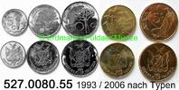 5 Werte 1993 / 2006 Namibia *1 bis *5 KM1-5 Kursmünzensatz unc  7,65 EUR  zzgl. 4,75 EUR Versand
