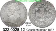 Geschichtstaler 1837 Deutschland Bayern AKS 139 Ludwig I. vz  695,00 EUR  zzgl. 6,50 EUR Versand