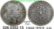 5 Mark 1876 B Preußen J. 97 Wilhelm I. s-ss  26,00 EUR inkl. gesetzl. MwSt., zzgl. 4,75 EUR Versand