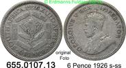 6 Pence 1926 Südafrika South Africa *24 KM16.1 s-ss  6,75 EUR  zzgl. 4,75 EUR Versand