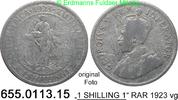 1 Shilling 1923 Südafrika South Africa *25 KM17.1   RAR vg  9,75 EUR  zzgl. 4,75 EUR Versand