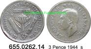 3 Pence 1944 Südafrika South Africa *38 KM26 s  1,50 EUR  zzgl. 4,75 EUR Versand