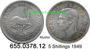 5 Shillings 1949 Südafrika South Africa *52 KM40 Springbock v-unc  19,75 EUR  zzgl. 4,75 EUR Versand