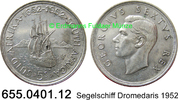 5 Shillings 1952 Südafrika South Africa *62 KM41   Segelschiff Dromedar... 12,95 EUR  zzgl. 4,75 EUR Versand